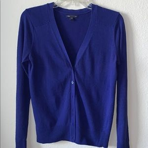 Cobalt blue button down cardigan